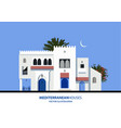 mediterranean moroccan or arabic style houses set vector image