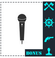microphone icon flat vector image vector image