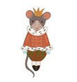 mouse king isolated on white background graphics