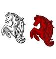 Mustang mascot vector image vector image
