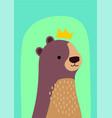 nursery bear king vector image vector image