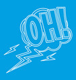 oh comic text sound effects icon outline style vector image vector image
