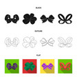 ornamentals frippery finery and other web icon vector image