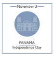 Panama Independence Day vector image vector image