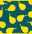 pears pattern seamless pantone vector image