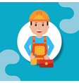 people workers profession vector image vector image