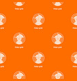 polar grid pattern orange vector image vector image
