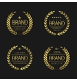 premium brand labels vector image vector image