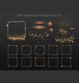 retro frames and light effects collection copper vector image vector image