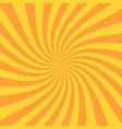 retro sunburst ray in vintage style spiral effect vector image