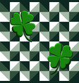 seamless pattern green clovers vector image