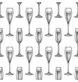 seamless pattern with glass champagne vector image vector image