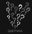 set hand drawn question marks doodle questions vector image vector image