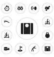 set of 12 editable training icons includes vector image vector image