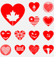 set of original hearts vector image