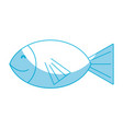silhouette fresh fish animal to preparation meal vector image