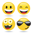 smiley set3 vector image vector image