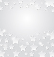 Star on a gray background abstract light vector image vector image
