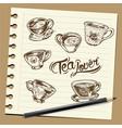 tea vector image vector image