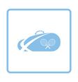 Tennis bag icon vector image vector image