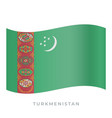 turkmenistan waving flag icon vector image vector image