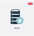 two color backup icon from search engine vector image vector image