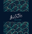 vertical card invitation and welcome lettering vector image vector image