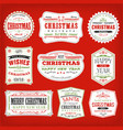 vintage christmas frames banners and badges vector image vector image