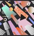 vintage memphis geometric seamless pattern vector image vector image