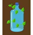 water bottles bioplastic vector image vector image