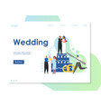 wedding website landing page design vector image vector image