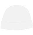 White winter hat vector image vector image