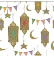 Traditional seamless background with arabic vector image