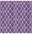 Brush stroke seamless purple mesh pattern vector image