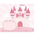 Cartoon fairy tale castle background vector image