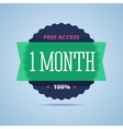 1 month free access badge vector image vector image