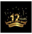 12 years anniversary golden anniversary template