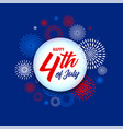 4th july independence day fireworks background vector image vector image