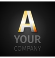 abstract logo letter A vector image