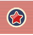 American star flat icon vector image