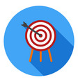 archery icon sports symbol modern flat long vector image