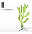 arrows tree - growth success concept vector image vector image
