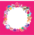 Back to School Circle Seamless children background vector image vector image