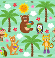 basic rgbseamless pattern with resting animals vector image