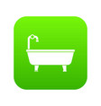 bathtub icon digital green vector image vector image