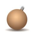 beige christmas ball vector image
