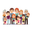 big family portrait happy people character vector image