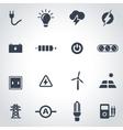 black electricity icon set vector image vector image