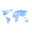 Blank political map of world vector image vector image