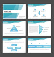 Blue polygonal presentation templates Infographic vector image vector image
